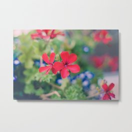 Independence Day Floral Metal Print