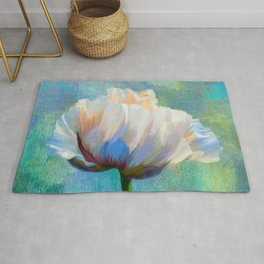 Painterly Poppy Dramatic Floral Rug