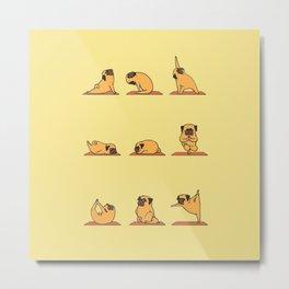 Fitness dog pug Metal Print
