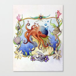 Octopus Wench Canvas Print