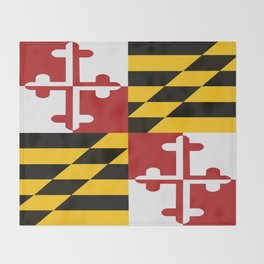 Maryland Colours Throw Blanket