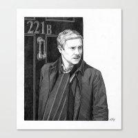 moustache Canvas Prints featuring Moustache by Alessia Pelonzi