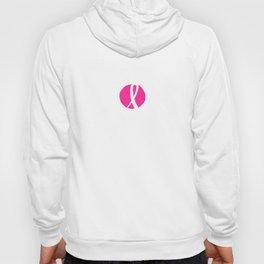 Vector watercolor pink ribbon - breast cancer awareness symbol Hoody