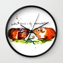 Guinea Pigs Feeling Awkward Wall Clock