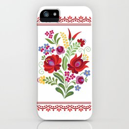 Hungarian Folk Design Red Peppers iPhone Case