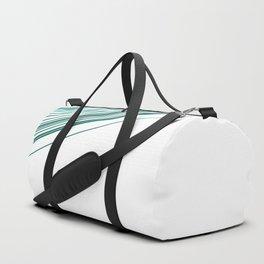 Green & Grey stripe Duffle Bag