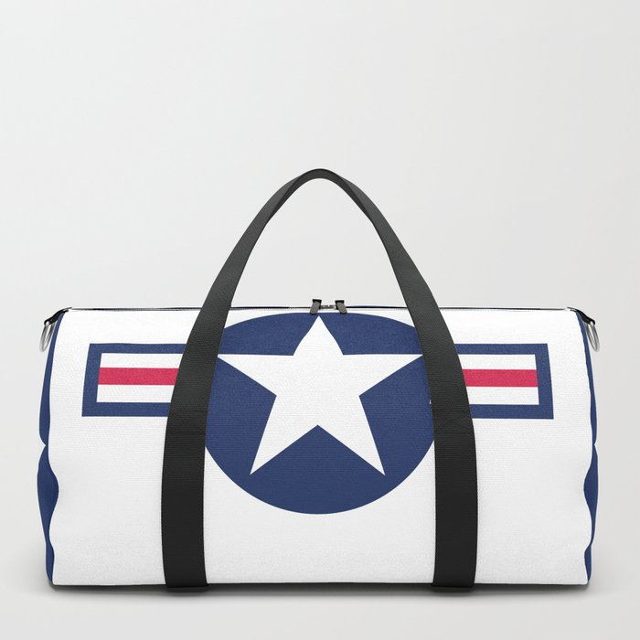US Airforce style roundel star - High Quality image Duffle Bag