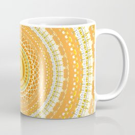Marigold Orange Mandala Design Coffee Mug