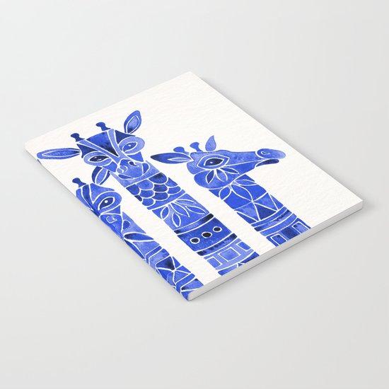 Navy Giraffes Notebook