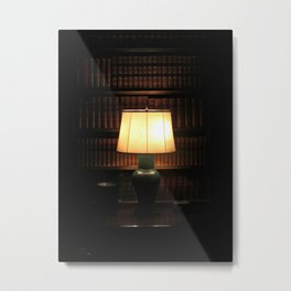 library, please hush Metal Print