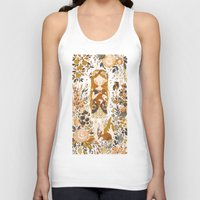 pink Tank Tops featuring The Queen of Pentacles by Teagan White