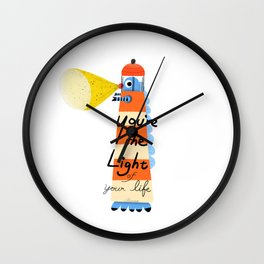 lighthouse monster Wall Clock