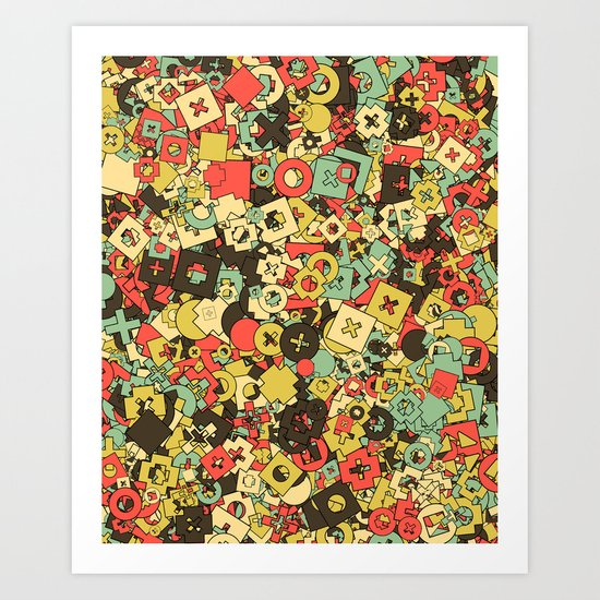 Nineteen Shapes Art Print