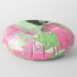 Dripping Pink and Green Angel Floor Pillow