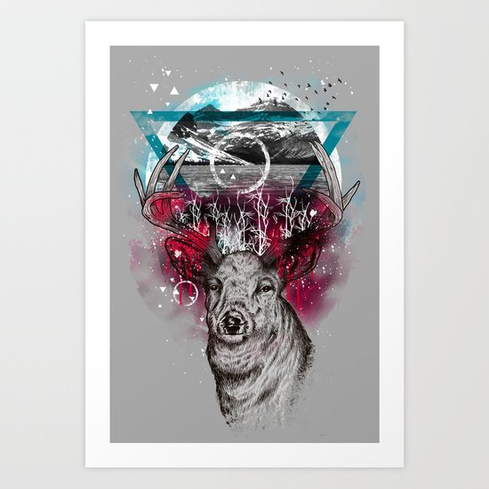 Cosmic Deer Art Print