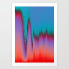 Glitch Stitch Art Print