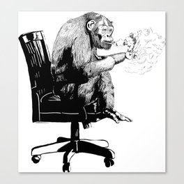 """On Mah Break"" Gorilla Canvas Print"