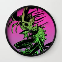 demon Wall Clocks featuring DEMON by ASHES