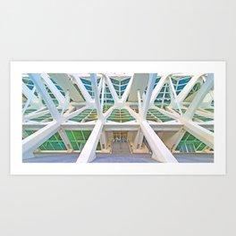 Concrete Structure Art Print