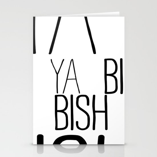 YA  BISH Stationery Cards