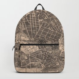 Vintage Map of Berlin Germany (1862) Backpack