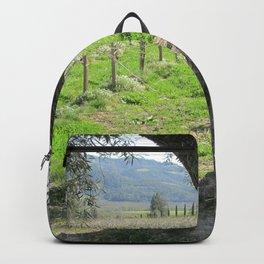 Olive tree in vineyard Backpack