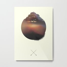 Woods Metal Print