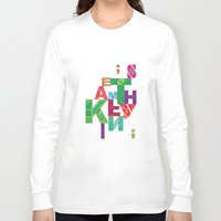 typo Long Sleeve T-shirts featuring typo by nuage rouge