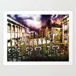 New Orleans cemetery Art Print