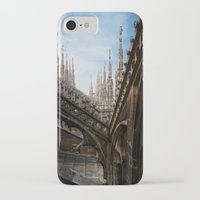 spires iPhone & iPod Cases featuring Duomo di Milano spires by Marc Daly