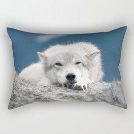 Sleepy Wolf Rectangular Pillow