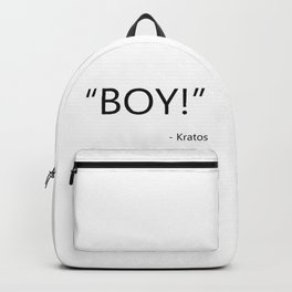 Quote from video game God of War Kratos Backpack