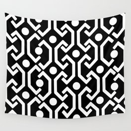 Ethnic Pattern (black) Wall Tapestry