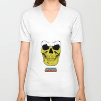 skeletor V-neck T-shirts featuring Skeletor by Dukesman