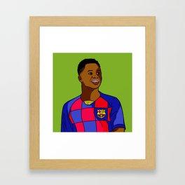 Ansu Fati Wunderkind Framed Art Print