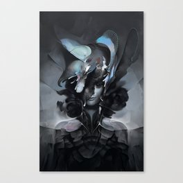 The Carrion Widow from Below the Cliffs Canvas Print