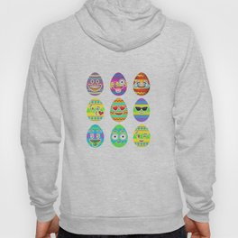 Emoji Easter Eggs Colorful Emoticon Pascha Holiday Hoody