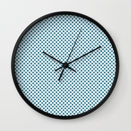Jelly Bean Blue Polka Dots Wall Clock