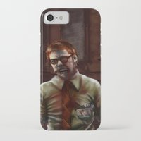 teacher iPhone & iPod Cases featuring Zombie Teacher by Brett Fitzpatrick