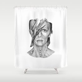 Wood dB Shower Curtain
