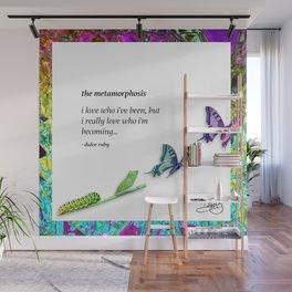The Metamorphosis - Caterpillar becoming Butterfly Wall Mural