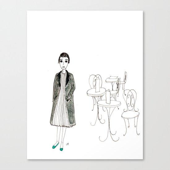 cafe girl Canvas Print