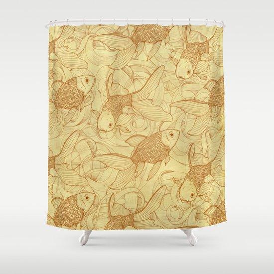 Vintage Goldfishes II Shower Curtain