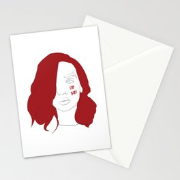 Cry baby vector portrait Stationery Cards