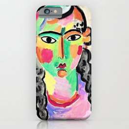 Alexej von Jawlensky - The pale girl with gray pigtails - Digital Remastered Edition iPhone Case