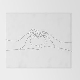 Hand Heart Throw Blanket