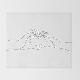 Hand Heart Throw Blanket