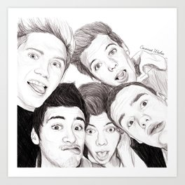 1D Selfie Art Print