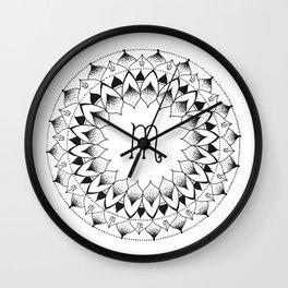 Scorpio Zodiac Mandala Wall Clock