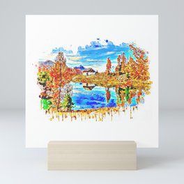 House In The Countryside Mini Art Print